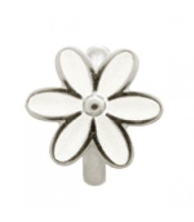 Charms White Enamel Flower Endless 41155-1