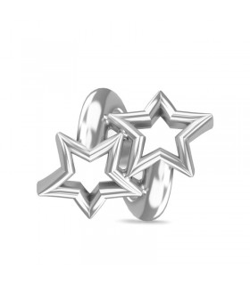 Charms Twisted Stars Silver Endless 41109