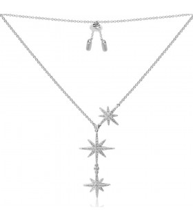 Collier Argent et Pierres APM Monaco Collection METEORITES AC3350OX