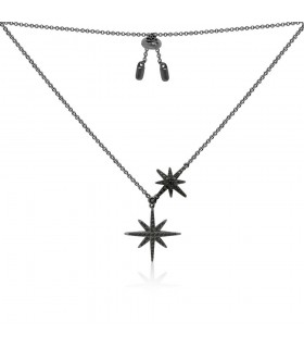 Collier Argent et Pierres APM Monaco Collection METEORITES AC3351BZT