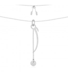 Collier Argent et Pierres APM Monaco Collection  SUNSHINE AC3521OX