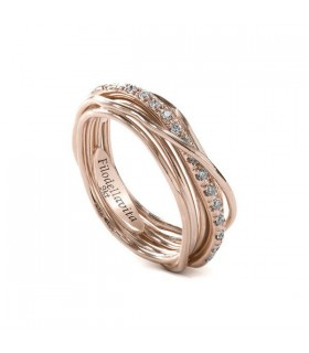 Bague Filodellavita Classic 7 fils Or Rose et Diamants AN7RBT