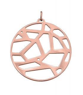Pendentif Rond Georgettes 45mm Girafe Plaqué Rose 70309294100