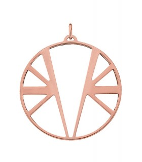Pendentif Rond Georgettes 45mm Ibiza Plaqué Rose 70309414100