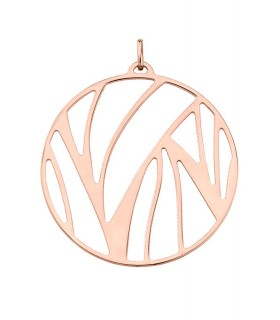 Pendentif Rond Georgettes 45mm Perroquet Plaqué Or Rose 70309324100