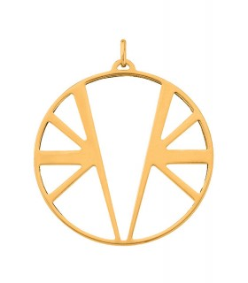 Pendentif Rond Georgettes 45mm Ibiza Plaqué Or 70309411900