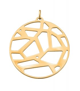 Pendentif Rond Georgettes 45mm Girafe Plaqué Or 70309291900