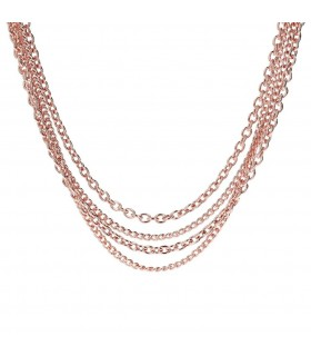 Collier Multi-rangs plaqué or rose BRONZALLURE WSBZ01098.R