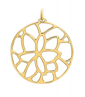 Pendentif Rond Georgettes 45mm Nénuphar Plaqué Or 70327851900