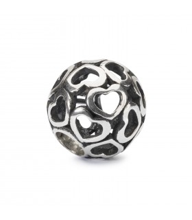 Perle Trollbeads Argent  Couverture d'Amour TAGBE-10201