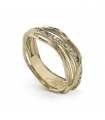 Bague Filodellavita Classic 7 fils En Or Jaune 9K Et Diamants Blancs AN7GBT