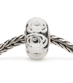 Perle Trollbeads Roses Blanches TGLBE-30044