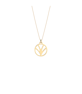 Pendentif Les Georgettes Papyrus Rond 16mm Finition Or 70364911900