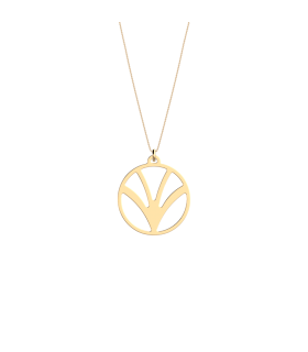 Pendentif Les Georgettes Papyrus Rond 25mm Finition Or 70364921900