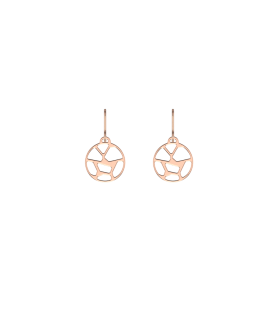 Boucles d'Oreilles Georgettes Dormeuses Girafe Finition Or Rose