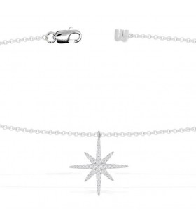 CCollier Argent et Pierres APM Monaco Collection METEORITES AP9606OX