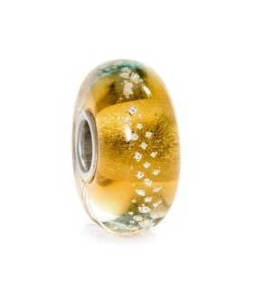 Perle Trollbeads VerreTrace d'argent or 62023