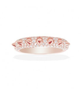 Bague Argent Rose et Pierres APM Monaco Collection Hérisson R15419OX