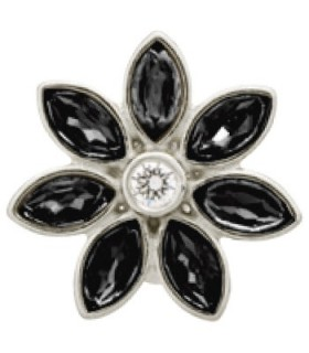 Charms Big Black Flower Endless 41451-2