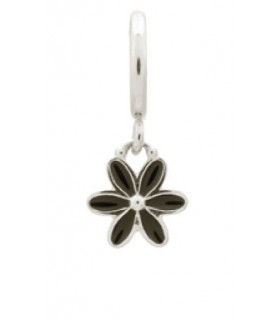 Charms Black Enamel Flower Drop Endless 43269-2