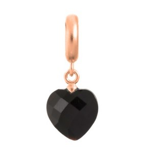 Charms Black Heart Cut Drop Endless 63351-2